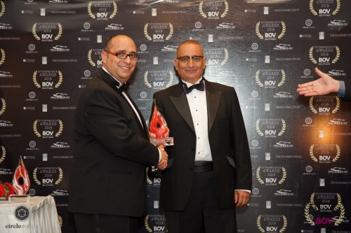 Mark J Galea receiving the award during the ceremony held earlier this month